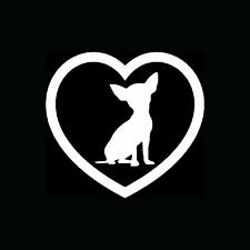 Chihuahua Heart Sticker Car Window Vinyl Decal Dog Breed Lover Puppy Family Cute