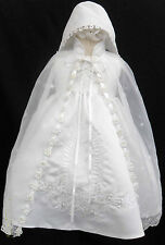 New Infant Baby Girl Christening Baptism Dress Gown Size 01234 (0-30M) White