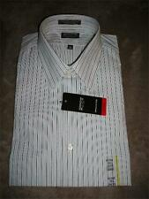 Arrow Fitted,W/F,L/S, White with Gray Pin Striped Men's Shirt~Dif. Sizes~$40~NWT