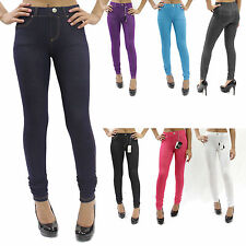 New Knit Denim Look High Quality Soft Feel Stretch Jeggings 8 Colors S-3XL PL015