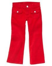 GYMBOREE COZY CUTIE RED BOOT CUT CORDUROY PANTS 6 7 8 12 NWT