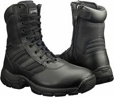 MENS MAGNUM PANTHER 8.0 SIDE ZIP BLACK POLICE ARMY BOOTS FAB 162