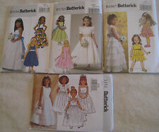 Butterick Flower Girl Dress Pattern Gown~Formal~First Communion~Princess~Party
