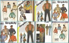 OOP Mens Country Western Simplicity Sewing Pattern Rockabilly Cowboy UC