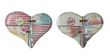 Kelly Rae Collection - Tin/Metal Heart Patchwork/Collage Wall Decor- 2 Designs
