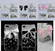3D Alloy Bling Crystal Bow knot Ribbon DIY cell Phone iPhone Case - Deco Den Kit