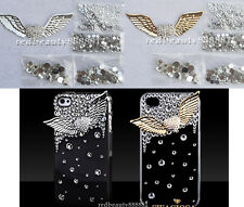 3D Alloy Bling Crystal Angel Wings DIY cell Phone iPhone 4S Case - Deco Den Kit