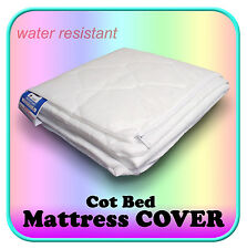 Baby Cot Bed Mattress Replacement COVER Quilted ALL SIZES