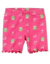 GYMBOREE BRIGHT TULIP PINK FROG FLOWER BIKE SHORTS 3 6 12 18 24 2T 3T 4T 5 NWT
