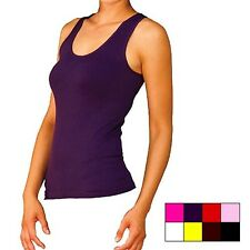 WOMEN'S 100% COTTON RIBBED RIB A-SHIRTS TANK TOPS