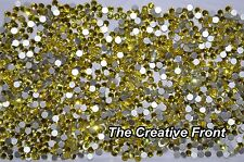 1440 CRYSTALS - FLAT FOILED BACKED - YELLOW - NEW PACKAGED