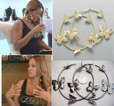 NEW Evelyn Gold or Hematite Butterfly Hoops Earring Basketball Wives PoParazzi