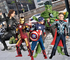 Child Marvel Movie Avengers Iron Man Thor Hulk Captain America Blk Widow Costume