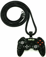 Game Controller Necklace New Iced Out Pendant With 36 Inch Franco Style Chain