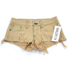 Wildfox Couture Friday Night Shorts Overdyed Ghost Nude BNIB MSRP $160