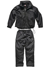 Dickies Exmoor Rainsuit Waterproof Breathable Jacket&TrousersBlack S-XXL WP70000