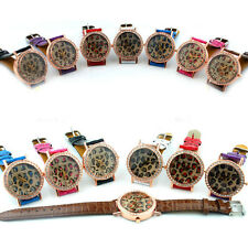 New Leather Crystal Leopardo Lady Fashion Woman Wrist Watch relojes de moda