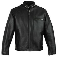 Mens light weight leather biker style scooter jacket brand new