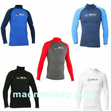 GUL RIVA MEN LONG SLEEVE RASH VEST RASH GUARD diving jetski bodyboard sailing