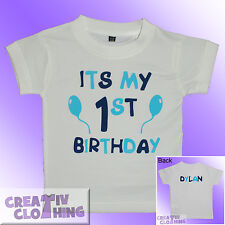 Baby Toddler T-Shirt BOYS - Its my 1st 2nd or 3rd Birthday PERSONALISED