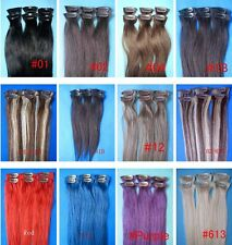"""Remy 15"""" 20"""" 6pcs Clip In 100% Real Remy Human Hair Extensions 30gr Straight OEM"""