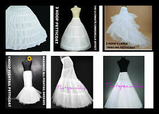 3 HOOP 6 HOOP  A LINE FISHTAIL MERMAID PETTICOAT CRINOLINE UNDERSKIRT WEDDING