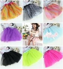 1 Pc 23 Style Colors Zebra Rainbow Leopard BALLET TUTU Litter Girl Party Skirt