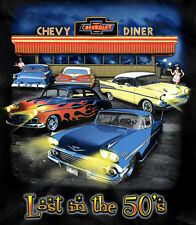 Chevy Diner T-Shirt - Lost in the 1950's - 58 Impala, 57 Chevy, 59 Impala, Nomad