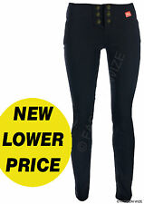 Ladies Work Trousers Size 6-14 Skinny Leg Gold Buttons