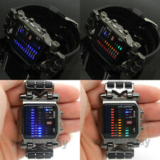 Gift Box Blue/Color LED Watch Digital Black Rubber Fashion Sport Womens Mens