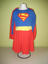 Superwoman Supergirl Super Hero Costume Long-sleeved Dress with Cape NWT
