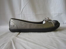 LADIES ANGRY ANGELS FLAT PEWTER SHOE (6859_8)