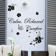 Calm Relaxed Wall  Art Quotes / Wall Stickers / Wall Decals / Wall Mural