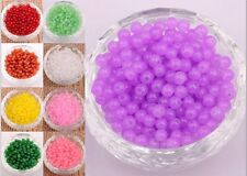 Wholesale 200pcs Glass Jade Spacer Beads 4mm Jewelry Making Findings