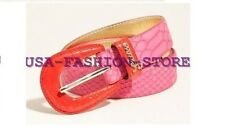 NWT GUESS GUESS Color-block Contour Belt Patent Python Hot Pink Red size S-M-L