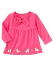 GYMBOREE CHEERY ALL THE WAY PINK BOW WESTIE HEM TOP 3 6 12 18 24 2 3 4 5 NWT