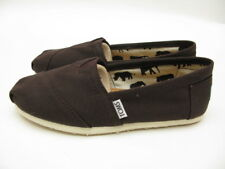 WOMENS TOMS CLASSIC CANVAS SLIP ON - CHOCOLATE