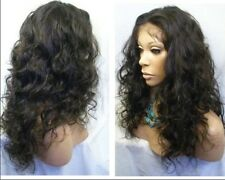 """malaysia curly full lace wig/ lace front wig 2# remy human hair 12""""-20"""""""