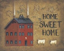 Saltbox Home Sweet Home John Sliney 16x20 inch Framed or Unframed Picture Print