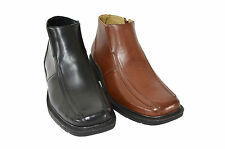NEW! Men's Leather Lining Ankle Boots Casual Dress Shoes Zipper (DARK-04)
