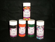 NEW Cake Deco Candy Making EDIBLE Sprinkles JIMMIES CONFETTI Asst 3oz Jars