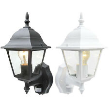 New PIR Movement Detector Lantern Outdoor Home Security Sensor Garden Light IP43