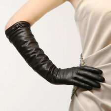 Best sale!Ladies opera long genuine Italian soft nappa leather gloves perforated