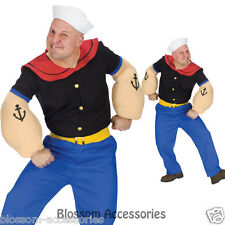 C93 Licensed Popeye Sailorman Humourous Men Fancy Dress Adult Costume