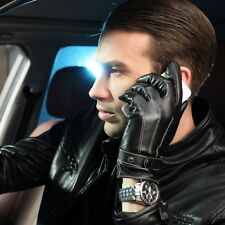 Hot sale!Classic Men Italian soft nappa leather motorcyle driving POLICE gloves