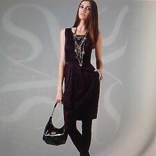 **8**Simply Vera Vera Wang Jeweled Chiffon-Trim Charmeuse Dress Top Tunic Blouse