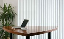 Fully Made to Measure Vertical blinds in Patterned Dalia White or Cream