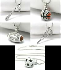 NEW BASEBALL BASKETBALL FOOTBALL SOCCER TENNIS NECKLACE