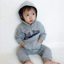 Made in Korea Hood All Star Gray Boy Girl Unisex Infant Cotton Clothing /OA-975