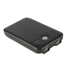5000mAh Solar Panel Power external Bank 2-USB Port back up battery Charger